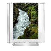 Mossy Rocks And Stream Poster Shower Curtain