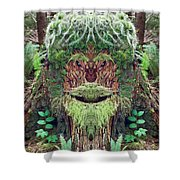 Mossman Tree Stump Shower Curtain