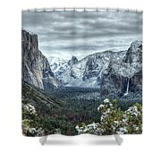 Most Beautiful Yosemite National Park Tunnel View Shower Curtain