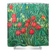 Mostly Tulips Shower Curtain