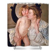 Mother And Boy Shower Curtain