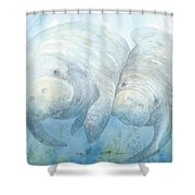 Mother And Calf Shower Curtain