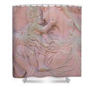 Mother And Child In Red Sandstone Shower Curtain