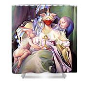 Mother And Child Reunion Shower Curtain by Patrick Anthony Pierson