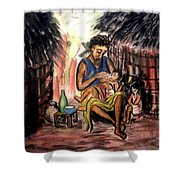 Mother And Children #1 Shower Curtain
