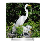 Mother And Children Shower Curtain