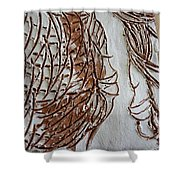 Mother And Son - Tile Shower Curtain