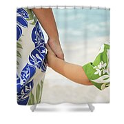 Mother And Son Shower Curtain