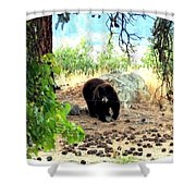 Mother Bear Shower Curtain
