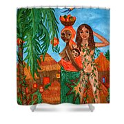 Mother Black Mother White Shower Curtain
