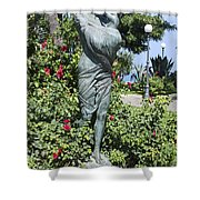 Mother Child Statue Shower Curtain