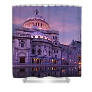 Mother Church And Reflection Shower Curtain