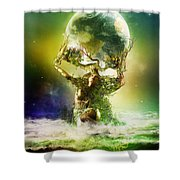 Mother Earth Shower Curtain by Mary Hood