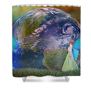 Mother Earth Series Plate3 Shower Curtain