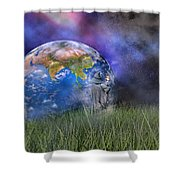 Mother Earth Series Plate4 Shower Curtain