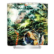 Mother Earth Sister Moon Shower Curtain