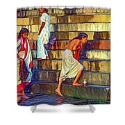 Mother Ganges - Paint Shower Curtain