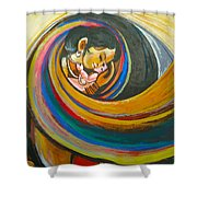 Mother Love,mothers Lap Shower Curtain