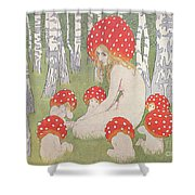 4b5cb88c7390 Mother Mushroom With Her Children Shower Curtain for Sale by Edwars Okun
