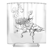Mother Nature Father Moon Shower Curtain