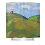Mother Nature With Poppies Shower Curtain