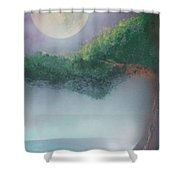 Mother Natures Face Shower Curtain
