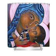 Mother Of God And Child Shower Curtain