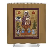 Mother Of God Life Giving Spring With Mother Macaria Of Russia And Blessed Margaret Of Castello 179 Shower Curtain
