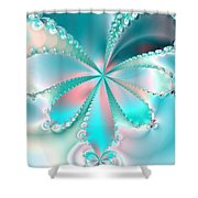 Mother Of Pearl Butterfly Shower Curtain
