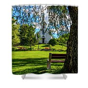 Mother Of Sorrows Pioneer Shrine Shower Curtain