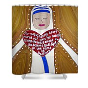 Mother Teresa Shower Curtain