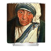 Mother Teresa  Shower Curtain
