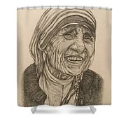 Mother Theresa Kindness Shower Curtain