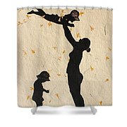 Mother With Children  Shower Curtain