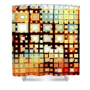 Motherboard Shower Curtain by Shawna Rowe