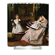 Motherly Love Shower Curtain by Gustave Leonard de Jonghe