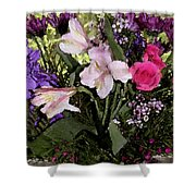 Mothers Day Bouquet Shower Curtain