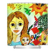 Mother's Day Shower Curtain