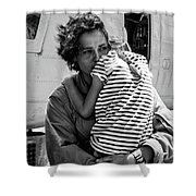 Mothers Day - Mommy Is Home From The War Shower Curtain