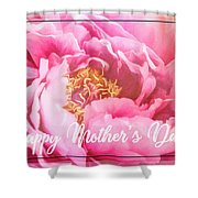 Mother's Day Peony Shower Curtain