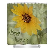 Mother's Day Sunflower Shower Curtain