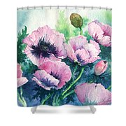 Mother's Prize Poppies  Shower Curtain