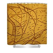 Mothers Smile - Tile Shower Curtain