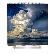 Mothership Thunderstorm  Shower Curtain