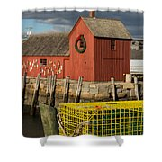 Motif 1 At Christmas, Rockport, Ma Shower Curtain