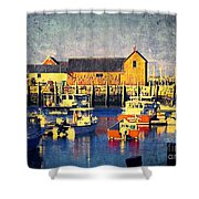 Motif No. 1 - Sunset Digital Art Oil Print Shower Curtain