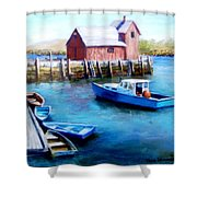 Motif One Rockport Harbor Shower Curtain