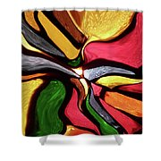 Motion And Light Abstract Shower Curtain