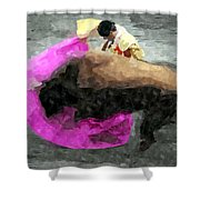 Bull Motion 3 Shower Curtain
