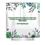 Motivational Quotes - All You Need Is The Plan Shower Curtain
